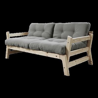 Sofabettstufe | Natürlicher Rahmen | Grau