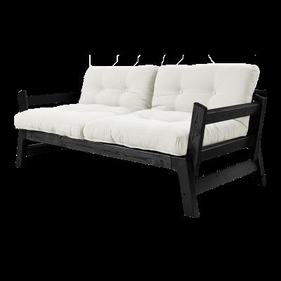 Sofabett Step | Schwarzer Rahmen | Natur