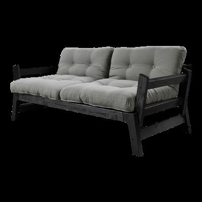 Sofabett Step | Schwarzer Rahmen | Grau