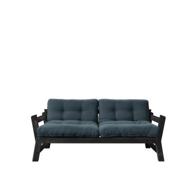 2-Sitzer-Sofa Step | Schwarzes Gestell & benzinblaue Sitzfläche