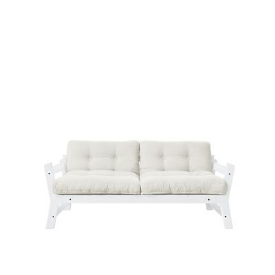 2-Sitzer-Sofa Stufe | Weißer Rahmen & natürliche Sitzfläche