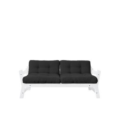 2-Sitzer-Sofa Stufe | Weißer Rahmen & dunkelgraue Sitzfläche