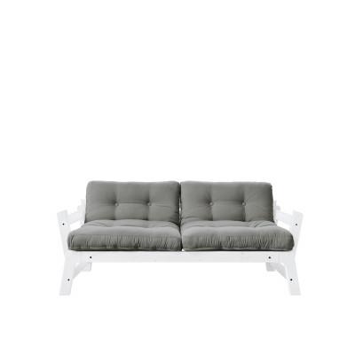 2-Sitzer-Sofa Stufe | Weißer Rahmen & graue Sitzfläche