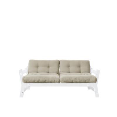 2-Sitzer-Sofa Stufe | Weißer Rahmen & beigefarbene Sitzfläche