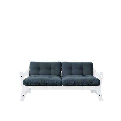2-Sitzer-Sofa Stufe | Weißer Rahmen & benzinblaue Sitzfläche