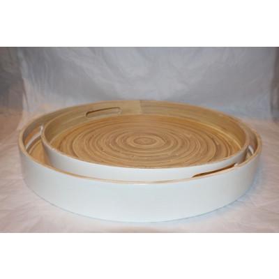 Bamboo Tablett Weiß