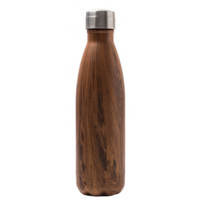 Isotherme Trinkflasche 500 ml | Holz