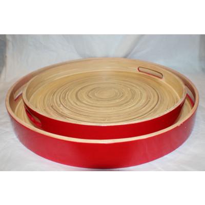 Bambus-Tablett Rot