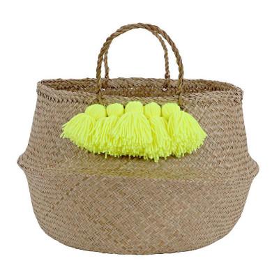 Tassel Basket | Neon Yellow