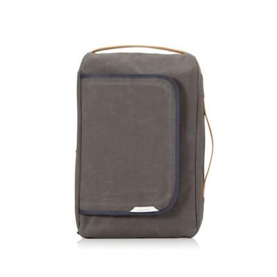R Bag 100 Wax Canvas | Charcoal