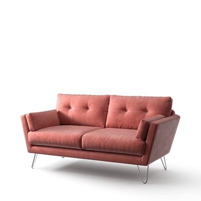 2-Sitzer-Sofa Tido   Puderrosa