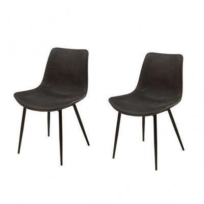 Bügel Stuhl 2er-Set | Schwarz