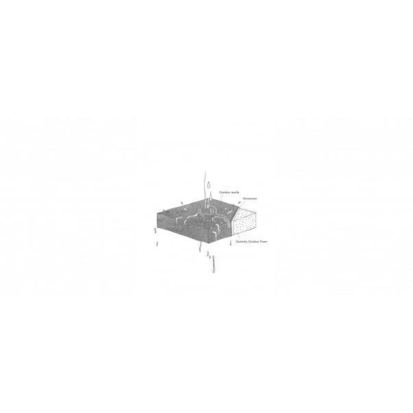 Lehnenpolster   Aschgrau