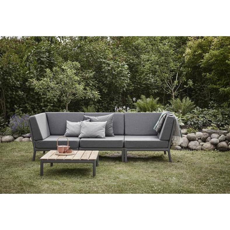 Outdoor-Sofa Eckmodul Tradition   Grafitgrau / Dunkelgrau