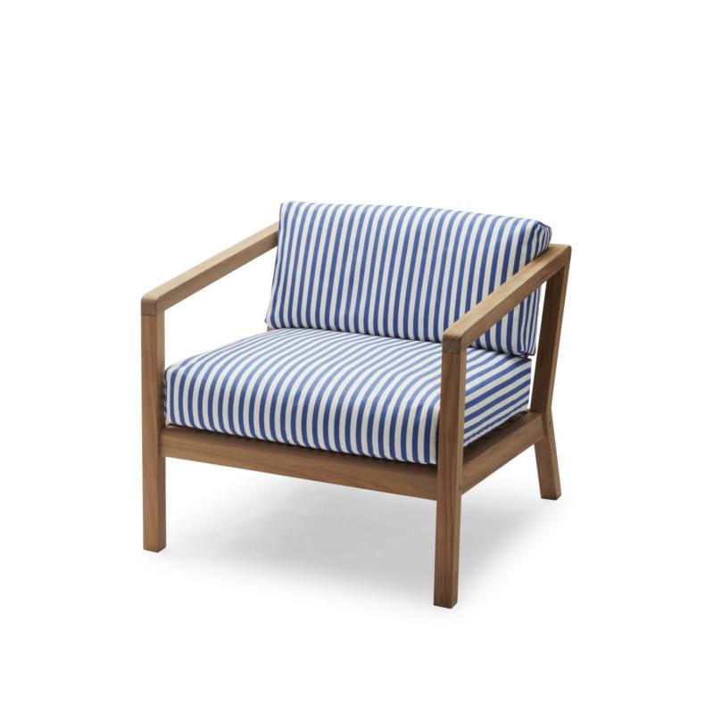Outdoor-Sessel Virkelyst   Blaue Streifen