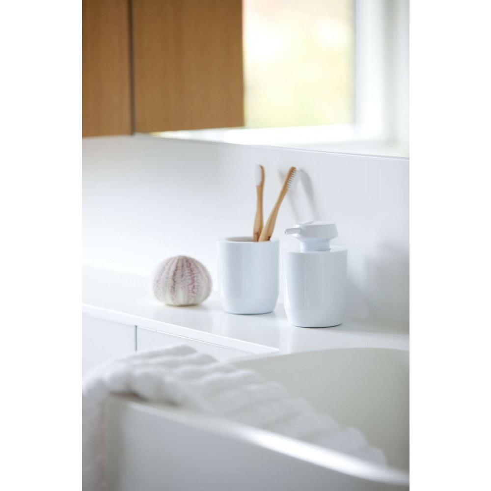 Zahnbürsten Becher 9 cm SUII  | Weiß