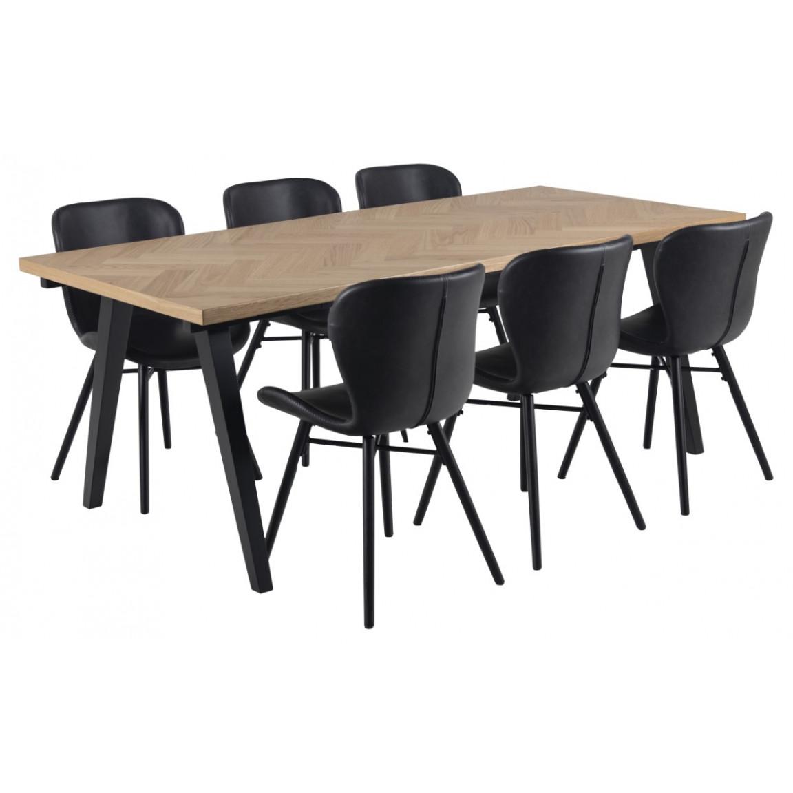 Set of 2 Chairs Matilda-A1   Black