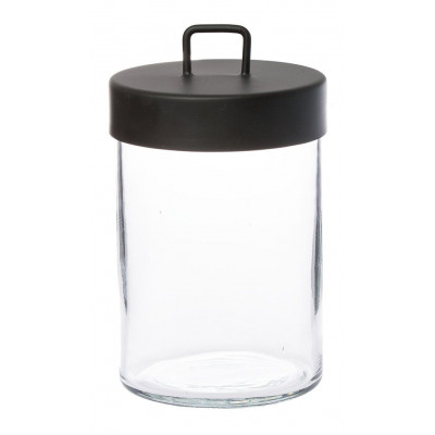 Glass Jar | Black Large