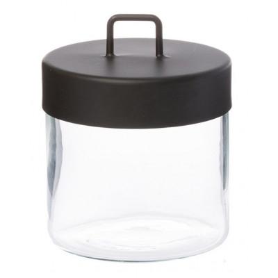 Glass Jar | Black Medium