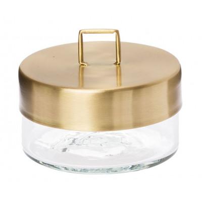 Glass Jar | Brass Small
