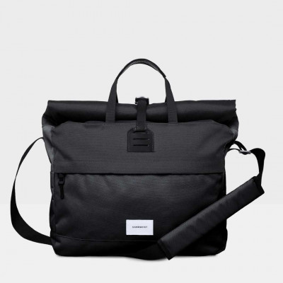 Rucksack TOR | Schwarz mit schwarzem Leder