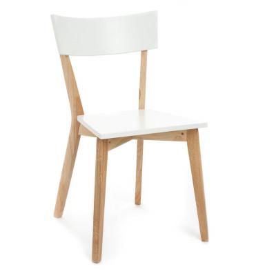 2er-Set | Stuhl Kyra | Weiß / Holz