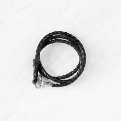 Key Leather Bracelet | Black