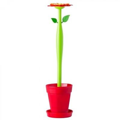 Toilettengarnitur Flower Power   Rot