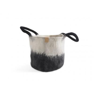 Wollkorb   Schwarz-Weiß