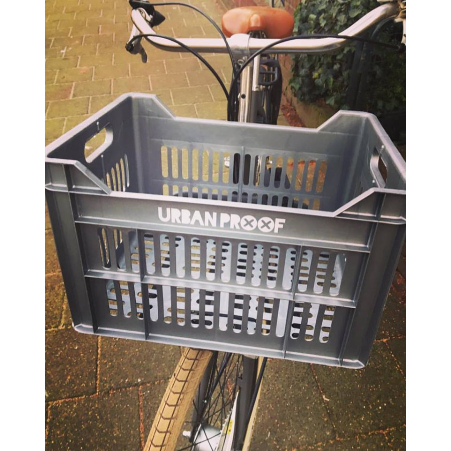 Bicycle Crate   Silver