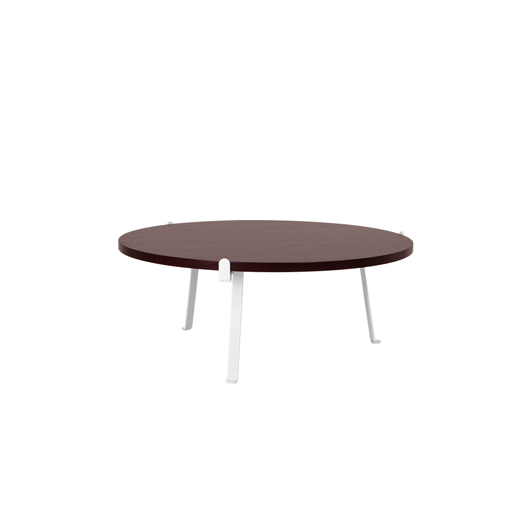 Arch Coffee Table | Dark Red Top
