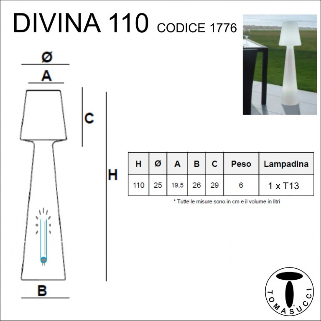 Floor Lamp Outdoor / Indoor Divine | White