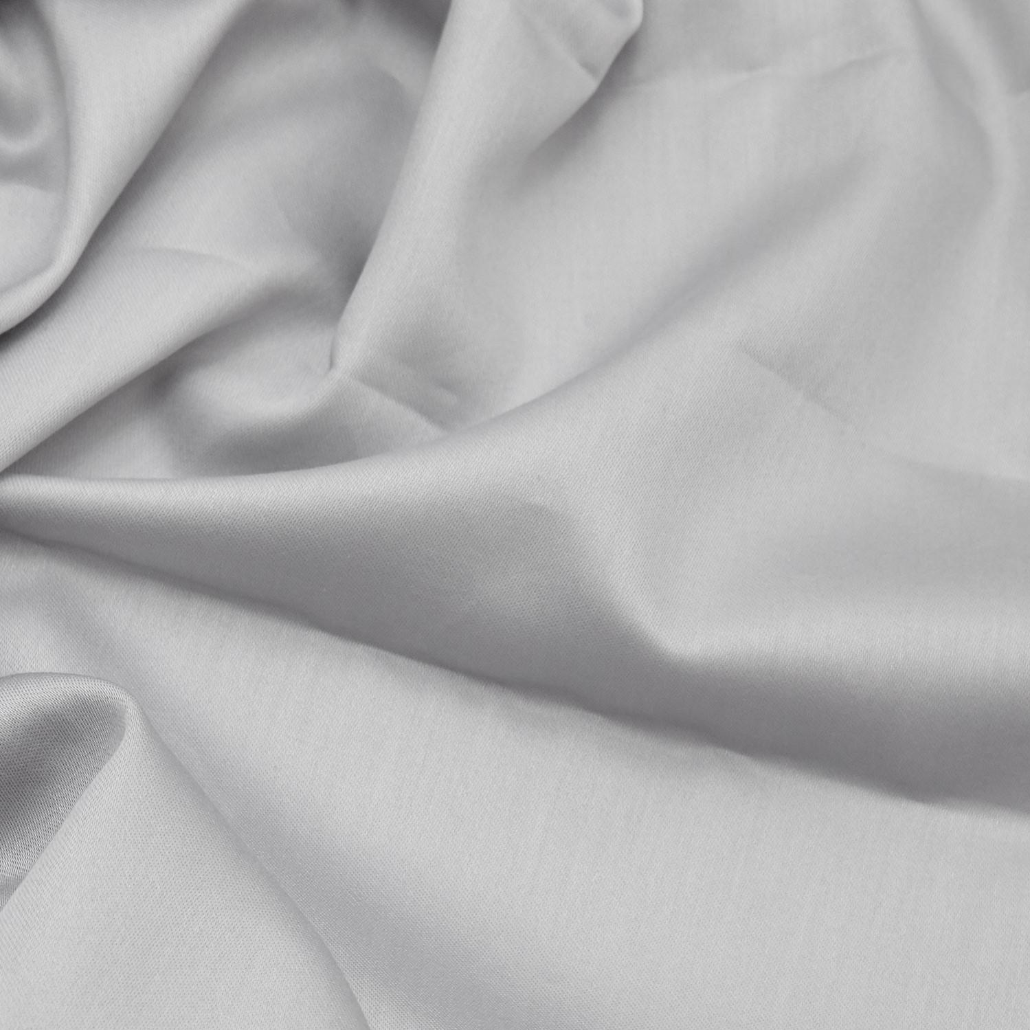 Quilt Cover Set Satin | Light Grey