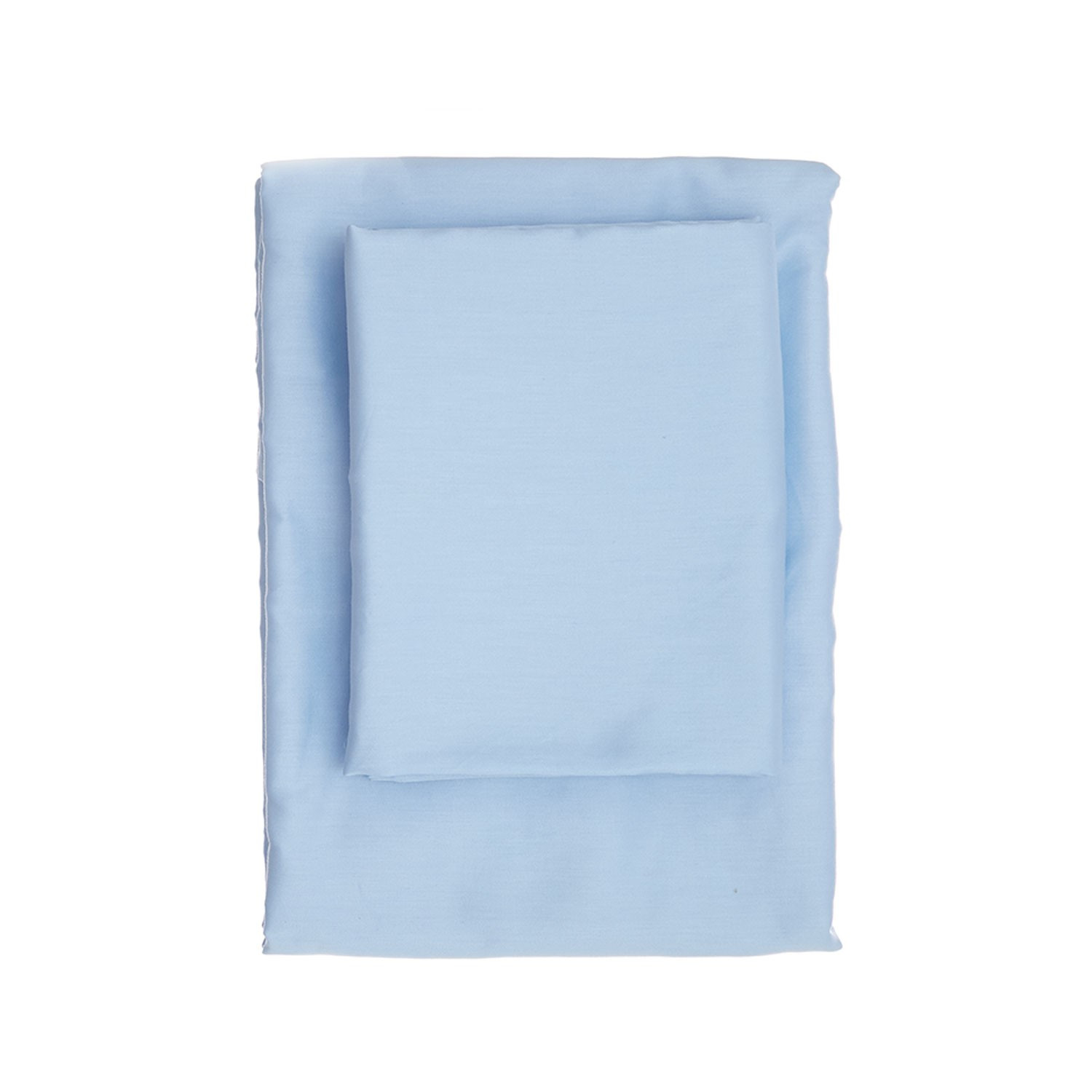 Double Fitted Sheet Satin | Light Blue