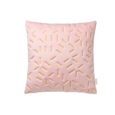 Splash Memory Pillow Square | Nude / Yellow Stiches