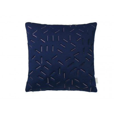 Splash Memory Pillow Square | Blue / Nude Stiches
