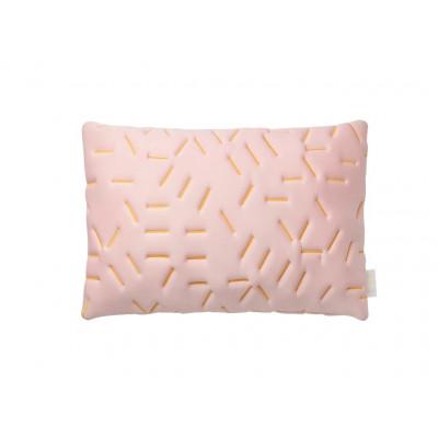 Splash Memory Pillow Rectangular | Nude / Yellow Stiches