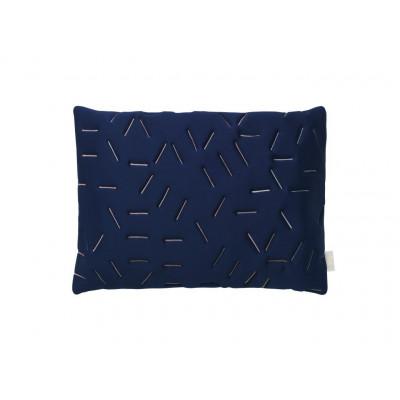 Splash Memory Pillow Rectangular | Blue / Nude Stiches