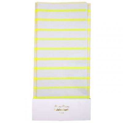 Tischdecke   Gelber Streifen