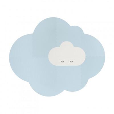 Spielmatte Wolke - Groß | Taubenblau