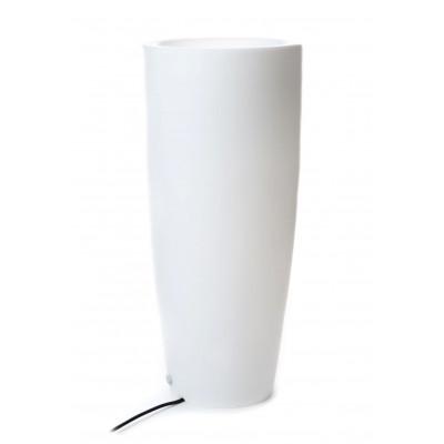 Vase Leuchte Drinnen/Draußen Bullet | Weiß