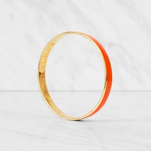 Thin Bangle Bracelet | Orange