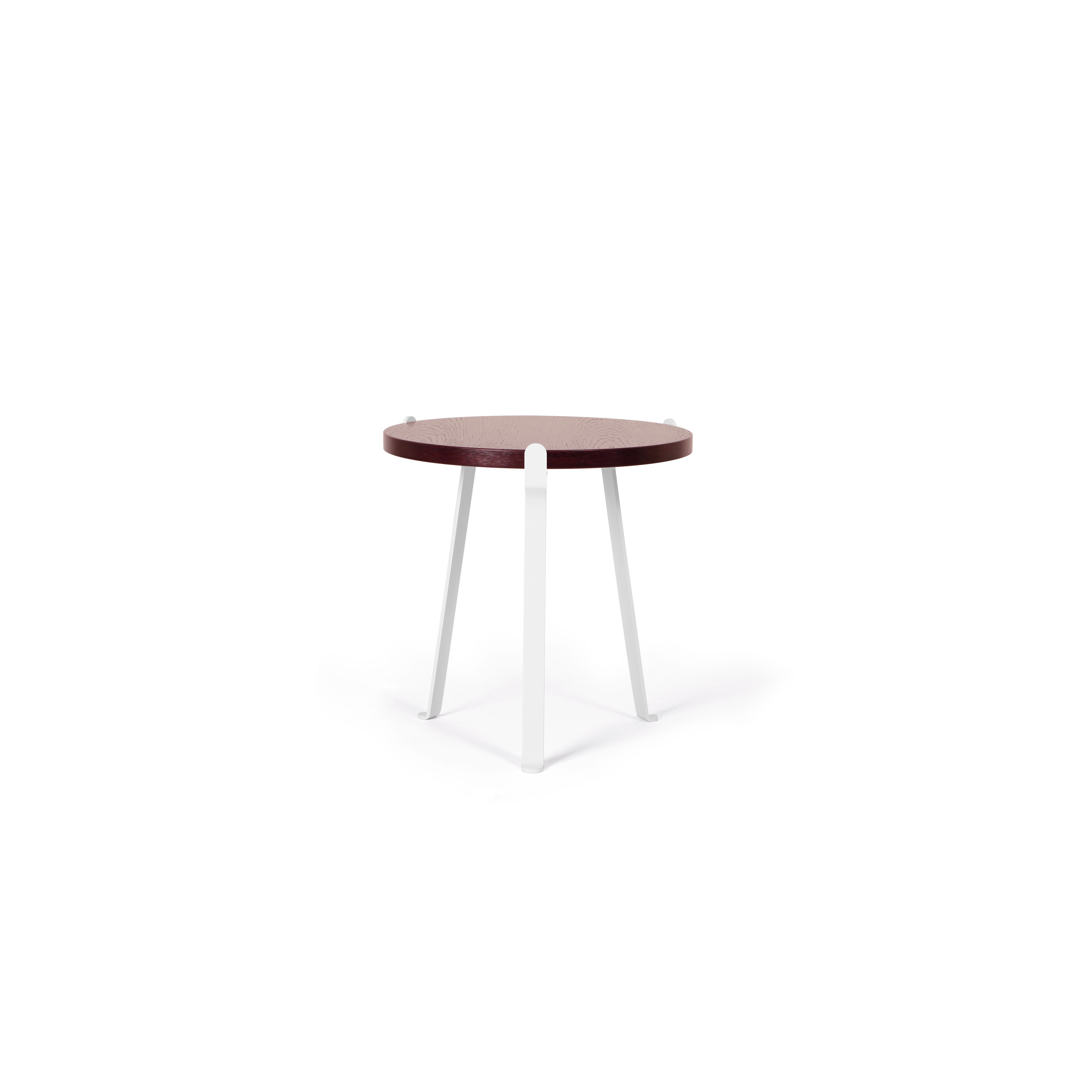Arch Side Table | Dark Red Top