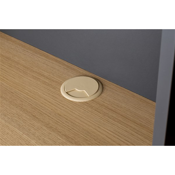 Wand Schreibtisch Minyard | Grau-Eiche