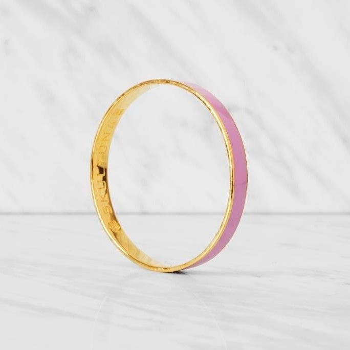 Thin Bangle Bracelet | Pink