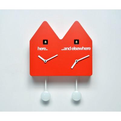 Double Q Uhr Rot