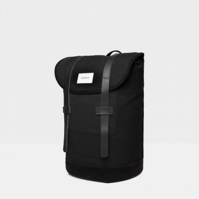 Rucksack STIG | Schwarz mit schwarzem Leder