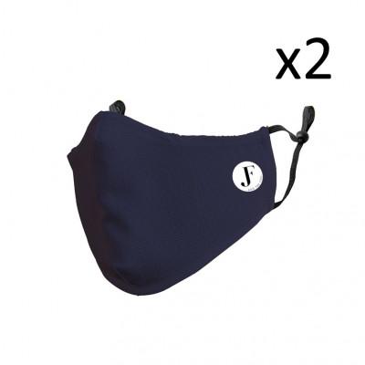 2er-Set Gesichtsmaske Spirit P | Blau