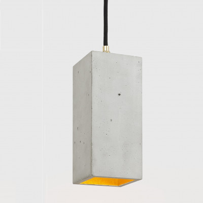 Pendant Lamp B2 | Light Grey Concrete + Gold
