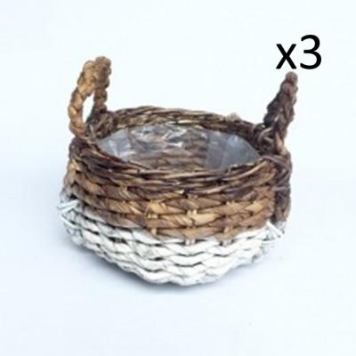 Bowl Abaca Set of 3 | White